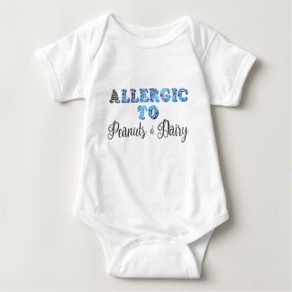 I'm Allergic to PEANUTS & DAIRY Baby Bodysuit