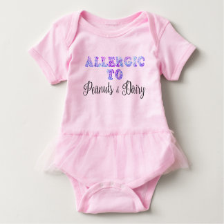 I'm Allergic to PEANUTS & DAIRY Baby Bodysuit