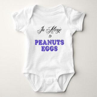 I'm Allergic to PEANUTS & EGGS Baby Bodysuit