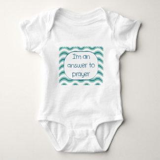 I'm An Answer To Prayer (boy) Baby Bodysuit