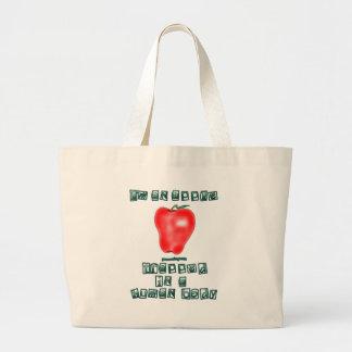 I'm an Apple Canvas Bag