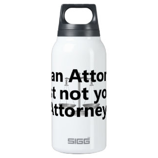 I'm an attorney 0.3L insulated SIGG thermos water bottle
