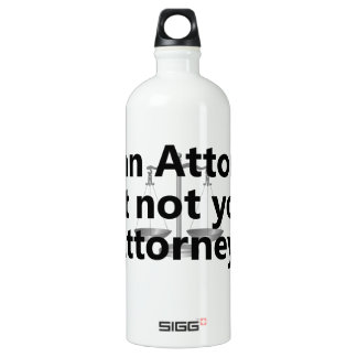 I'm an attorney SIGG traveller 1.0L water bottle