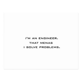 I'm an engineer postcard