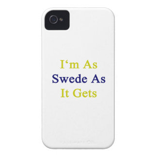 I'm As Swede As It Gets iPhone 4 Case-Mate Cases
