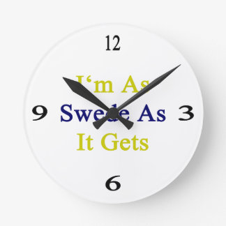 I'm As Swede As It Gets Clock