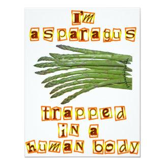 I'm Asparagus Custom Invitation