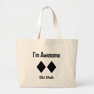 I'm Awesome Ski Utah Jumbo Tote Bag