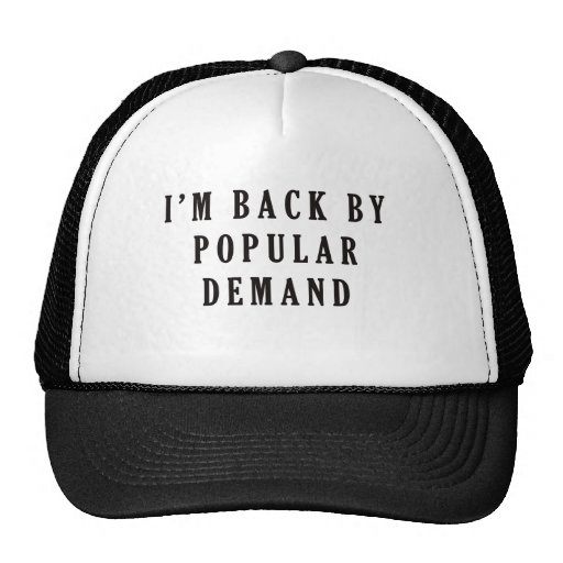 I'm back by popular demand mesh hats