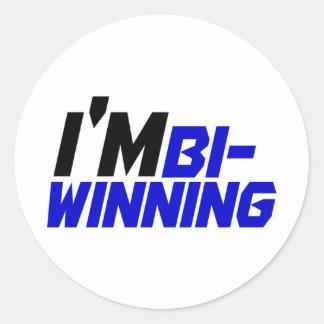 I'm Bi- Winning Round Sticker