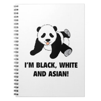 I'm Black, White And Asian! Spiral Notebook
