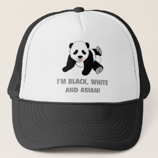 I'm Black, White And Asian! Trucker Hat