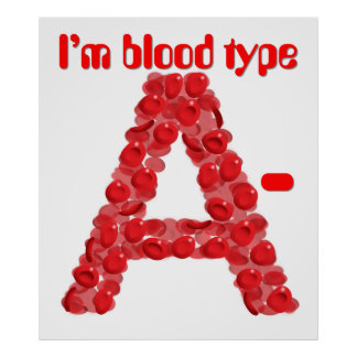 I'm blood type A negative Poster