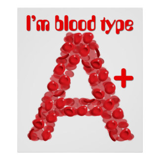 I'm blood type A positive Poster