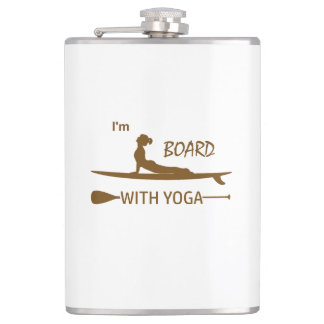 I'm Board With Yoga Hip Flask