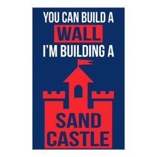 I'm Building A Sand Castle - 2016 Election Stationery Design