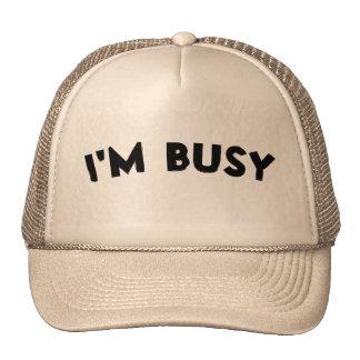 'I'M BUSY' Hat - Color : Khaki & Khaki
