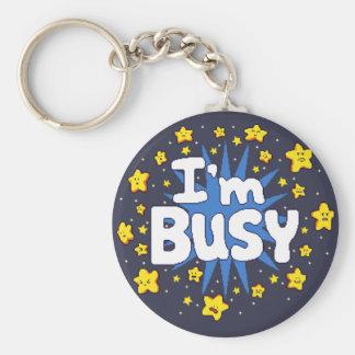 I'm Busy Key Ring