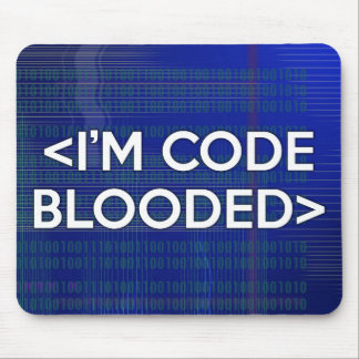 I'M CODE BLOODED MOUSE PAD