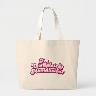 I'm completely momalicious! jumbo tote bag