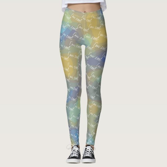 I'm Cool Abstract Design Leggings