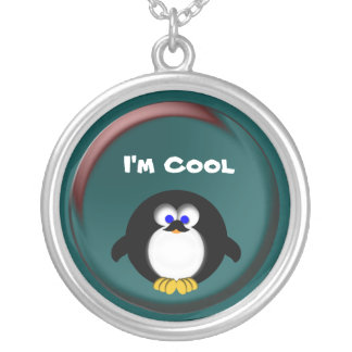 I'm Cool Round Pendant Necklace
