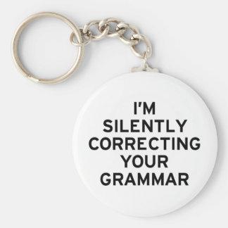 I'm Correcting Grammar Basic Round Button Key Ring