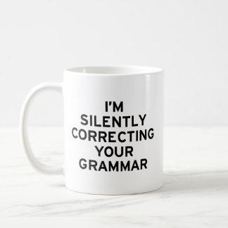 I'm Correcting Grammar Basic White Mug