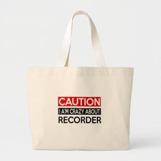 I'M CRAZY ABOUT RECORDER JUMBO TOTE BAG