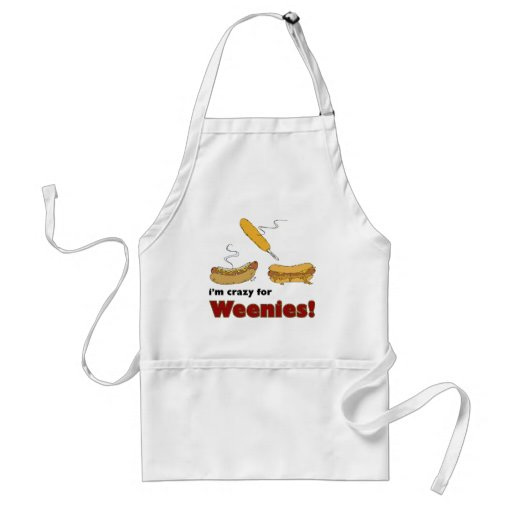 I'm Crazy For Weenies! Corn Chili Hot Dog Apron