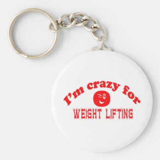 I'm crazy for Weight Lifting. Key Chain