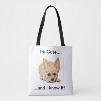 I'm cute and I know it! by Ohio artist Carol Zeock Tote Bag
