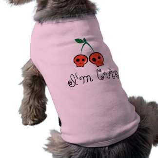 I'm Cute Cherry Skull Dog T-shirt
