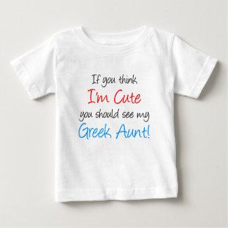 I'm Cute Greek Aunt Baby T-Shirt