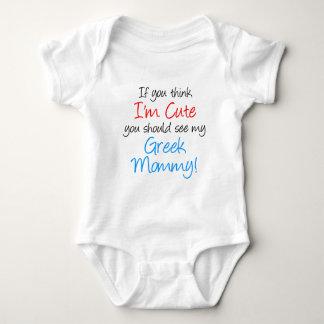 I'm Cute Greek Mommy Baby Bodysuit