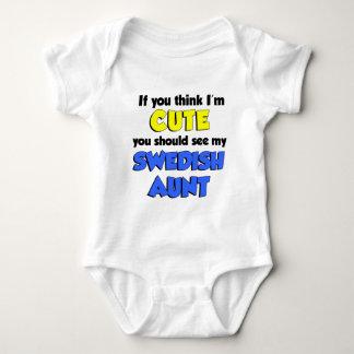 I'm Cute Swedish Aunt Baby Bodysuit