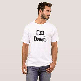 I'm Deaf! (front) Men's Basic T-Shirt