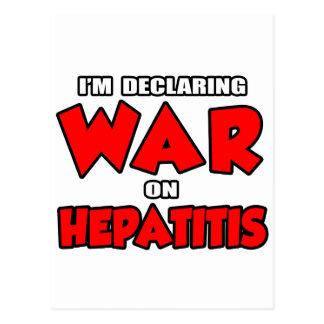I'm Declaring War on Hepatitis Post Cards