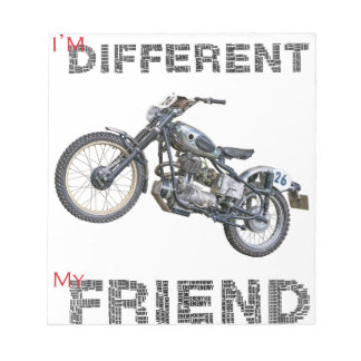 Im different motorcycle notepad