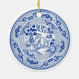 I'm Dreaming of a (Blue &) White Christmas Ceramic Ornament