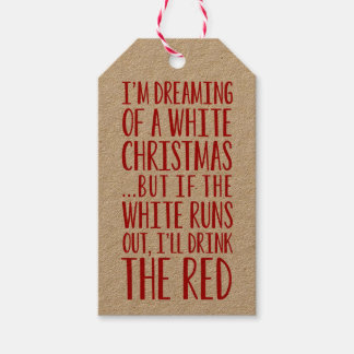 I'm Dreaming Of A White Christmas Gift Tags