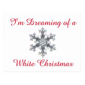 I'm Dreaming of a White Christmas - Snow flake Postcard