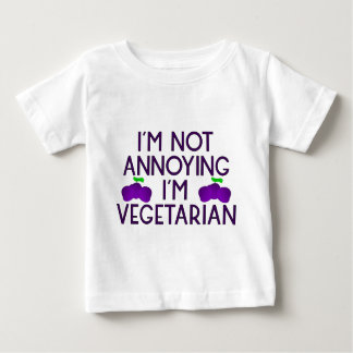 I'm emergency Annoying I'm Vegetarian plum Baby T-Shirt