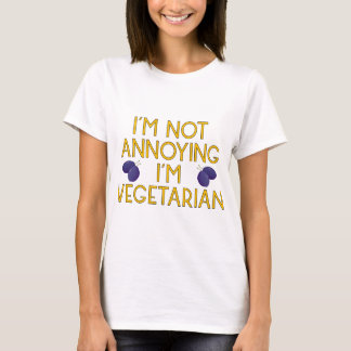 I'm emergency Annoying I'm Vegetarian plum T-Shirt