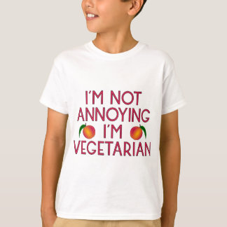 I'm emergency Annoying I'm Vegetarian Veggie T-Shirt