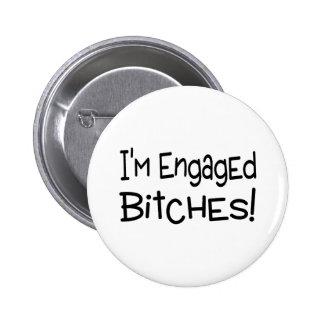 Im Engaged 6 Cm Round Badge