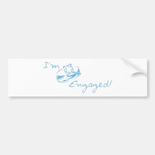 I'm Engaged (Blue Diamond Ring) Bumper Sticker