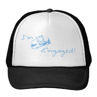 I'm Engaged (Blue Diamond Ring) Mesh Hat