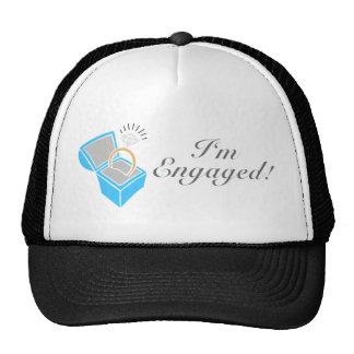 I'm Engaged (Diamond Engagement Ring Box) Mesh Hats