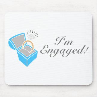 I'm Engaged (Diamond Engagement Ring Box) Mouse Pad
